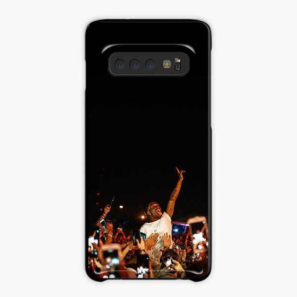 Lil Uzi Vert And Fans Samsung Galaxy S10 Case, Plastic Black