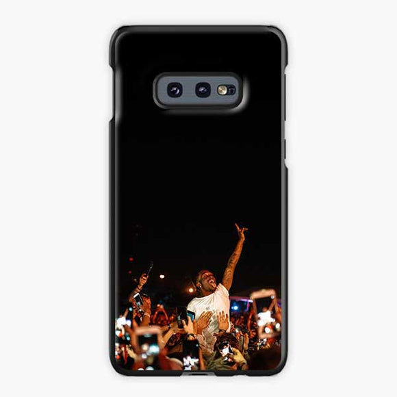 Lil Uzi Vert And Fans Samsung Galaxy S10e Case, Plastic Black