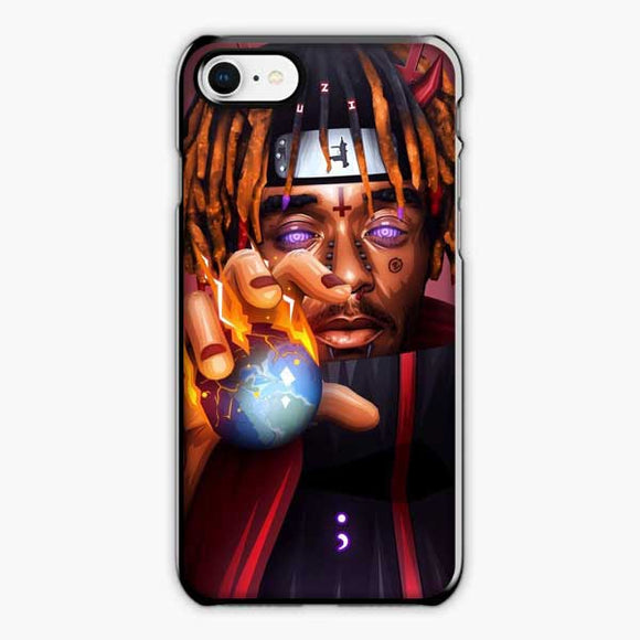 Lil Uzi Vert Anime Naruto iPhone 8 Case, Plastic Black