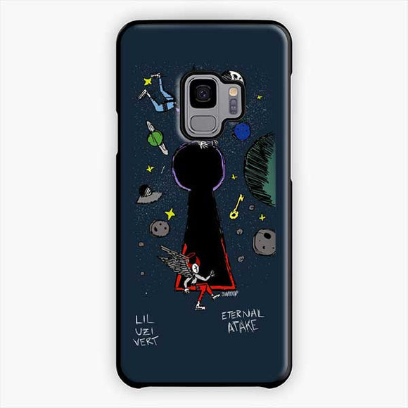 Lil Uzi Vert Eternal Atake Cartoon Samsung Galaxy S9 Case, Plastic Black