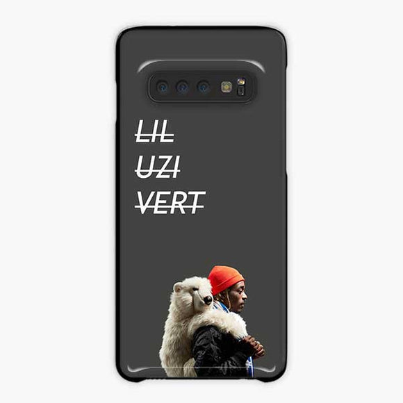 Lil Uzi Vert Luv Is Rage 2 Bear Samsung Galaxy S10 Plus Case, Plastic Black