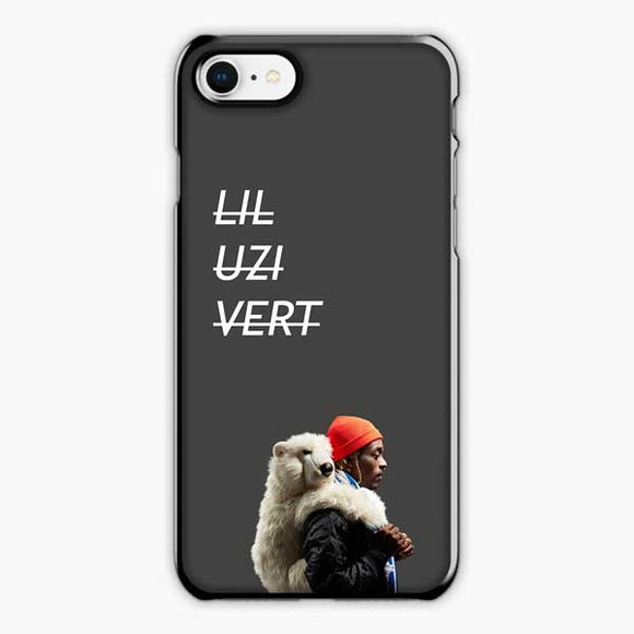 Lil Uzi Vert Luv Is Rage 2 Bear iPhone 8 Case, Plastic Black