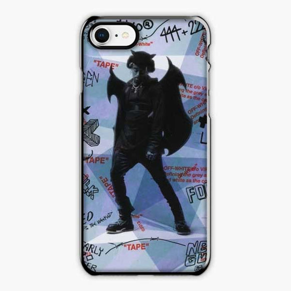 Lil Uzi Vert Luv Is Rage How To Talk iPhone 8 Case, Plastic Black