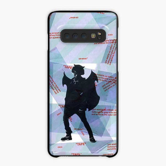 Lil Uzi Vert Luv Is Rage Off White Samsung Galaxy S10 Plus Case, Plastic Black