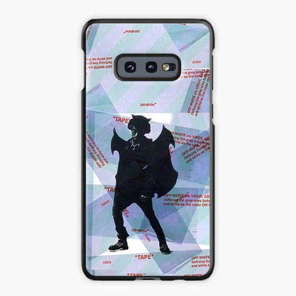 Lil Uzi Vert Luv Is Rage Off White Samsung Galaxy S10e Case, Plastic Black