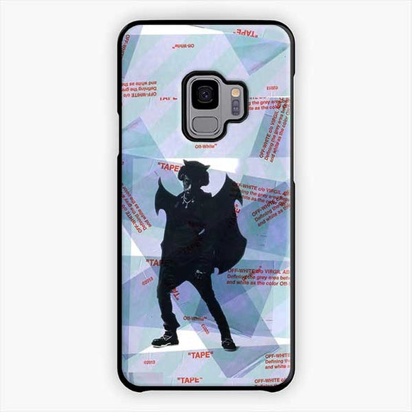 Lil Uzi Vert Luv Is Rage Off White Samsung Galaxy S9 Case, Plastic Black