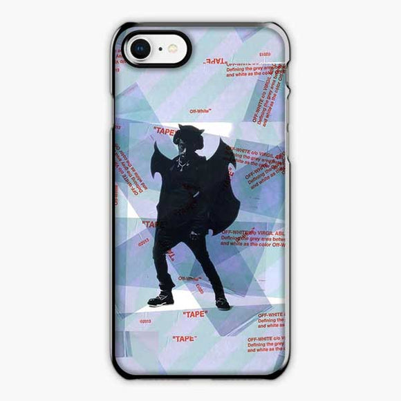Lil Uzi Vert Luv Is Rage Off White iPhone 8 Plus Case, Plastic Black