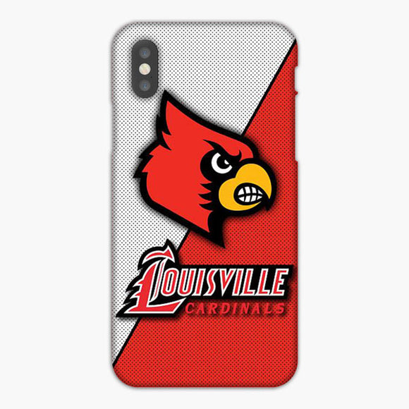 Louisville Cardinals Basketball iPhone XS Case, Plastic Case, Snap Case & Rubber Case