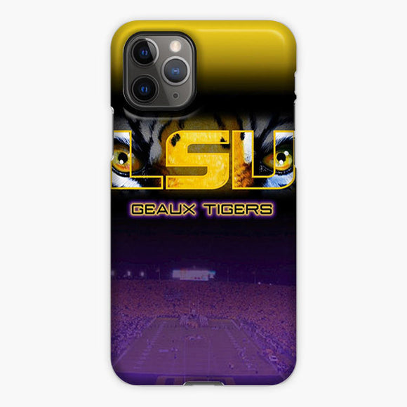 Lsu Tigers Football Logo iPhone 11 Pro Case, Plastic Case, Snap Case & Rubber Case