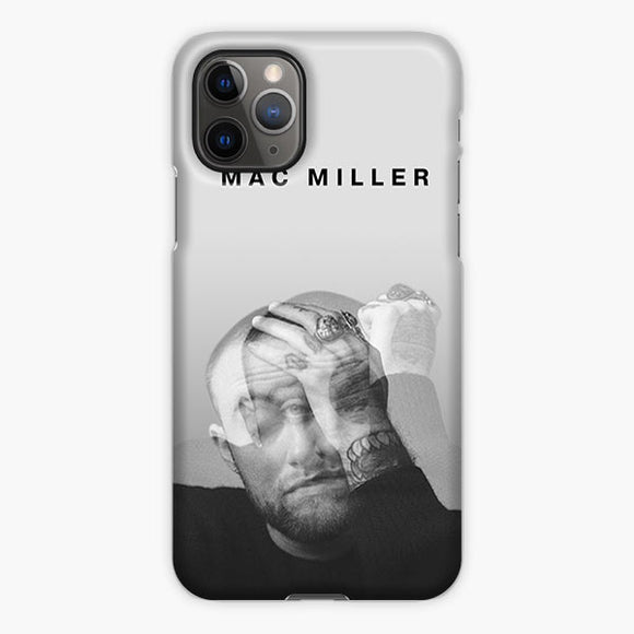 Mac Miller Shadow White Black iPhone 11 Pro Max Case, Plastic Case, Snap Case & Rubber Case
