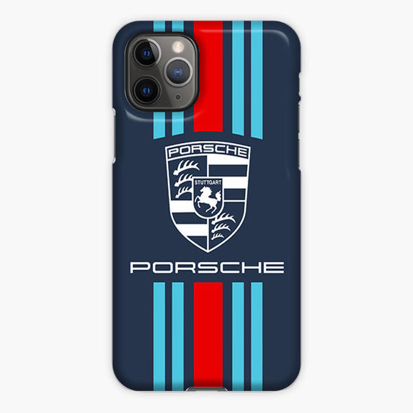 Martini Racing Logo Porsche Logo iPhone 11 Pro Case, Plastic Case, Snap Case & Rubber Case