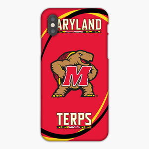 Maryland Terrapins Mascot iPhone XR Case, Plastic Case, Snap Case & Rubber Case