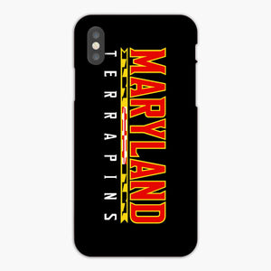 Maryland Terrapins iPhone XS Case, Plastic Case, Snap Case & Rubber Case