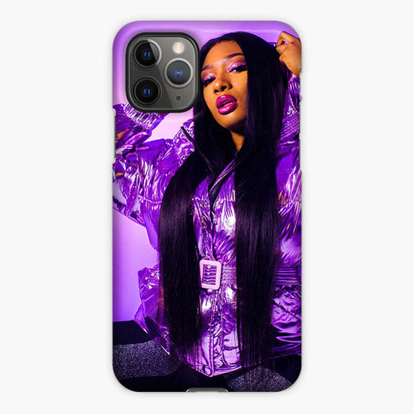 Megan Thee Stallion Purple Jacket iPhone 11 Pro Max Case, Plastic Case, Snap Case & Rubber Case