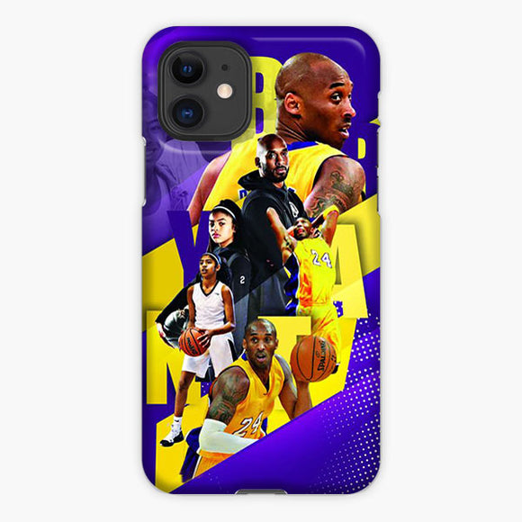 Memory Of Kobe Bryant And Giana Bryant Nba Lakers iPhone 11 Case, Plastic Case, Snap Case & Rubber Case