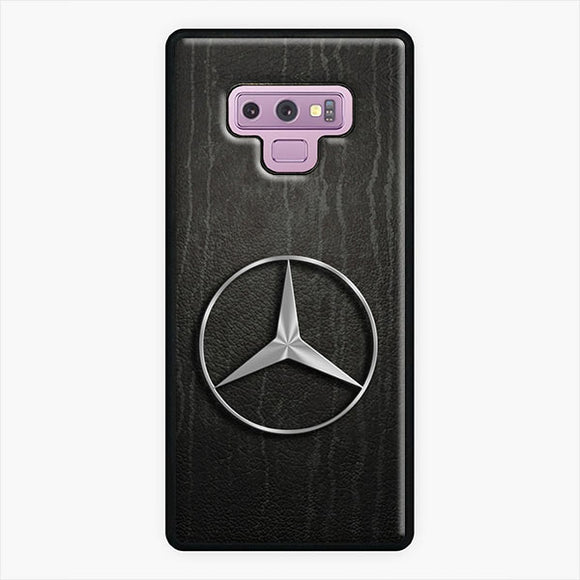 Mercedes Benz Logo Emblem Samsung Galaxy Note 9 Case, White Plastic & Rubber Case