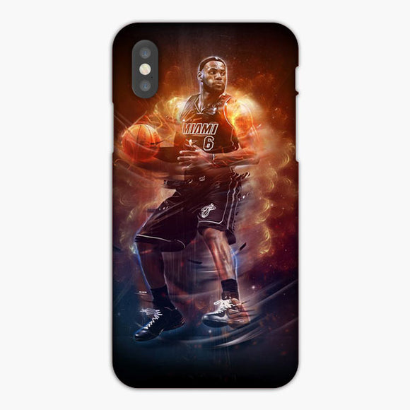 Miami Heat Nba Lebron James iPhone XR Case, Plastic Case, Snap Case & Rubber Case