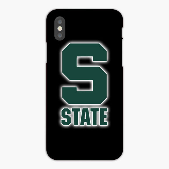 Michigan State Spartan Basketball iPhone XS Case, Plastic Case, Snap Case & Rubber Case