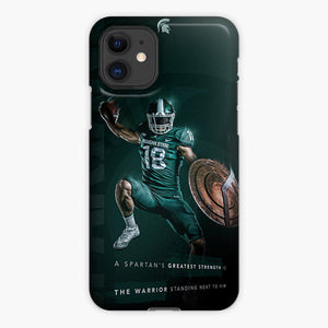 Michigan State Spartan Football iPhone 11 Case, Plastic Case, Snap Case & Rubber Case