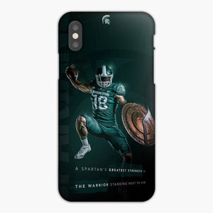 Michigan State Spartan Football iPhone XS Case, Plastic Case, Snap Case & Rubber Case