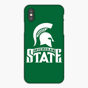 Michigan State Spartans iPhone XS Max Case, Plastic Case, Snap Case & Rubber Case