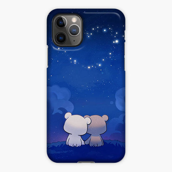 Milk And Mocha Bears Love Light Galaxy iPhone 11 Pro Case, Plastic Case, Snap Case & Rubber Case