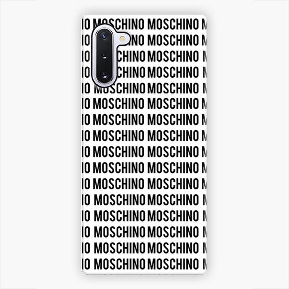 Moschino Moschino Pattern Samsung Galaxy Note 10 Case, Snap 3D Case