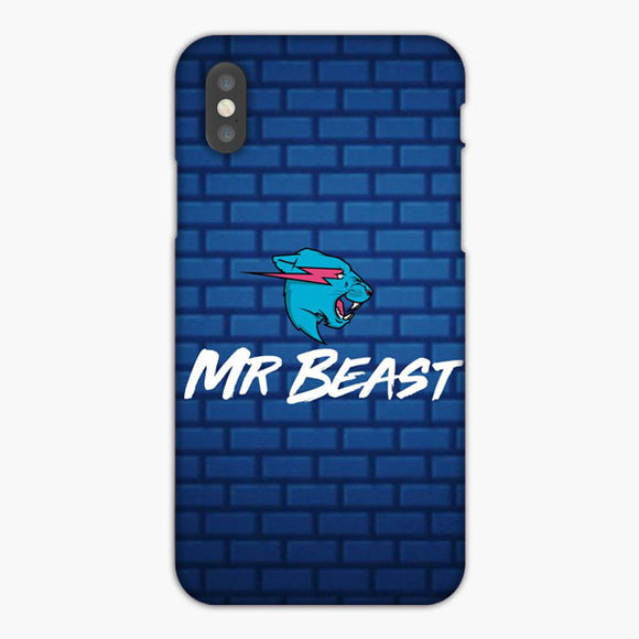 Mr Beast Blue Arranged Box iPhone XS Case, Plastic Case, Snap Case & Rubber Case