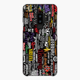 Music Logo Collage Samsung Galaxy S9 Plus Case, Snap Case 3D Print