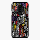Music Logo Collage Samsung Galaxy S9 Plus Case, Tough Case
