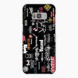Music Metal Band Logo Collage Samsung Galaxy S8 Case, Snap Case 3D Print