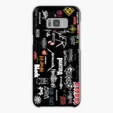 Music Metal Band Logo Collage Samsung Galaxy S8 Case, Tough Case