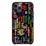 Music Rock Groups Logos Collage iPhone 11 Pro Case