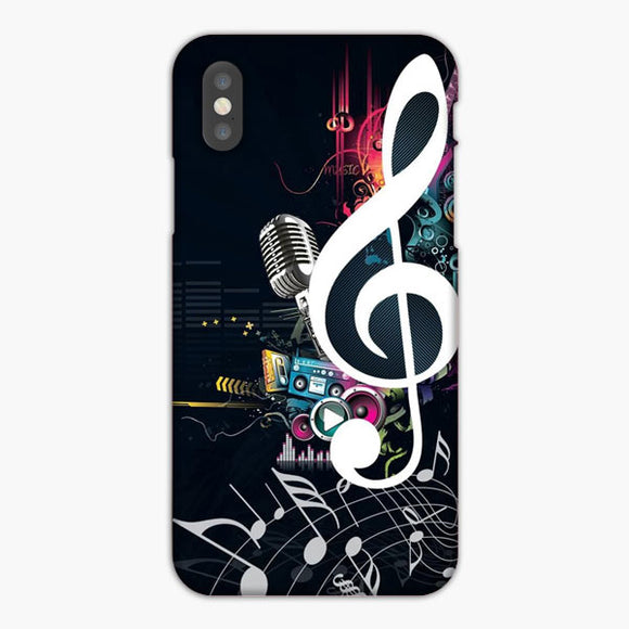 Music Themed iPhone XS Case, Plastic Case, Snap Case & Rubber Case