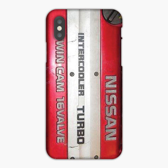 Nissan Skyline Intercooler Turbo Twin Cam 16 Valve iPhone X Case