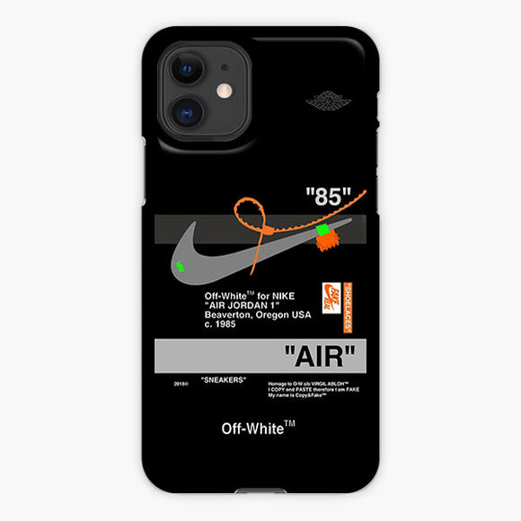 Off White Aj Black Nike iPhone 11 Case, Plastic Case, Snap Case & Rubber Case