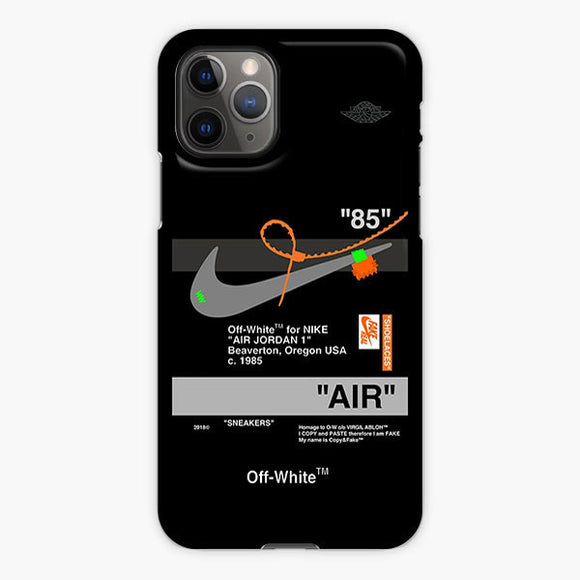 Off White Aj Black Nike iPhone 11 Pro Case, Plastic Case, Snap Case & Rubber Case