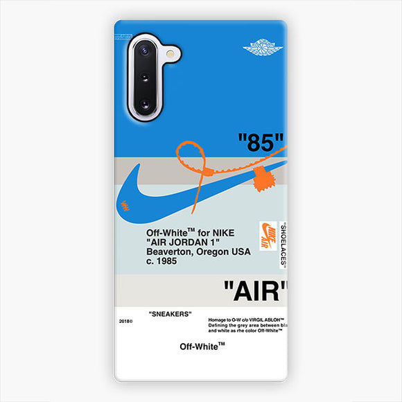 Off White Nike Air Logo Blue Samsung Galaxy Note 10 Case, Snap 3D Case