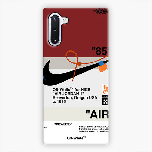 Off White Nike Air Logo Red Samsung Galaxy Note 10 Case, Snap 3D Case