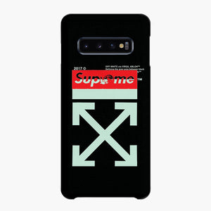 Off White Supreme Red Samsung Galaxy S10 Case, Snap Case 3D Print