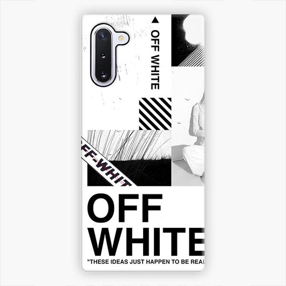 Off White These Ideas Just Happen To Be Real Samsung Galaxy Note 10 Case, Snap 3D Case