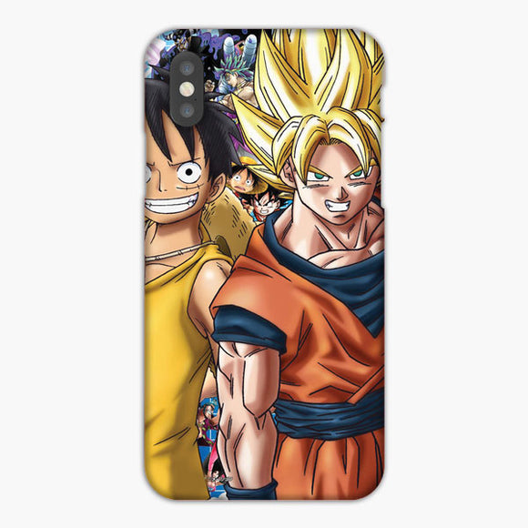 One Piece Moneky D Luffy X Dragon Ball Goku iPhone XS Max Case