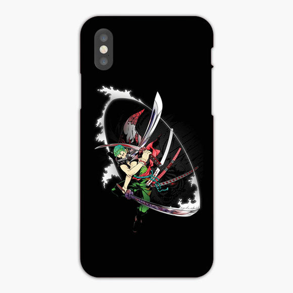 One Piece Roronoa Zoro Artwork iPhone XS Max Case