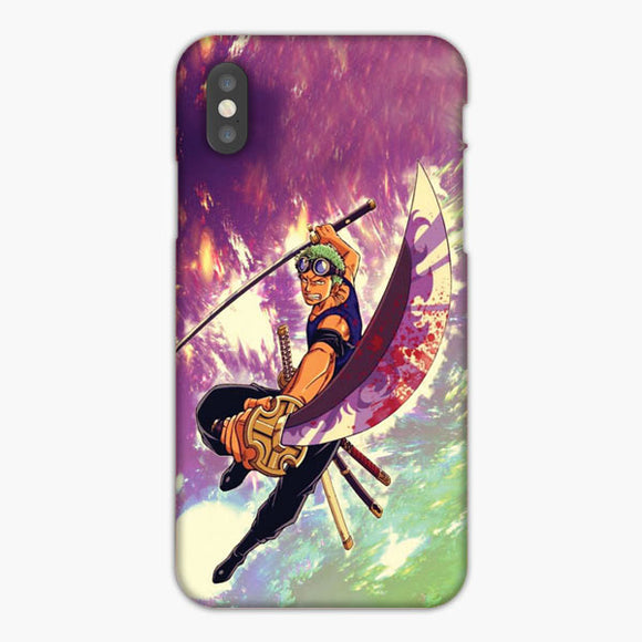 One Piece Roronoa Zoro Samurai iPhone X Case