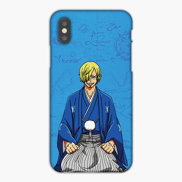 One Piece Sanji Blue Artwork iPhone XS Max Case