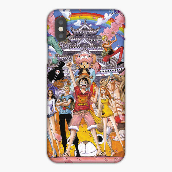 One Piece Straw Hat Monkey D Luffy Crew Watercolor iPhone XS Max Case