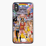 One Piece Straw Hat Monkey D Luffy Crew Watercolor iPhone X Case