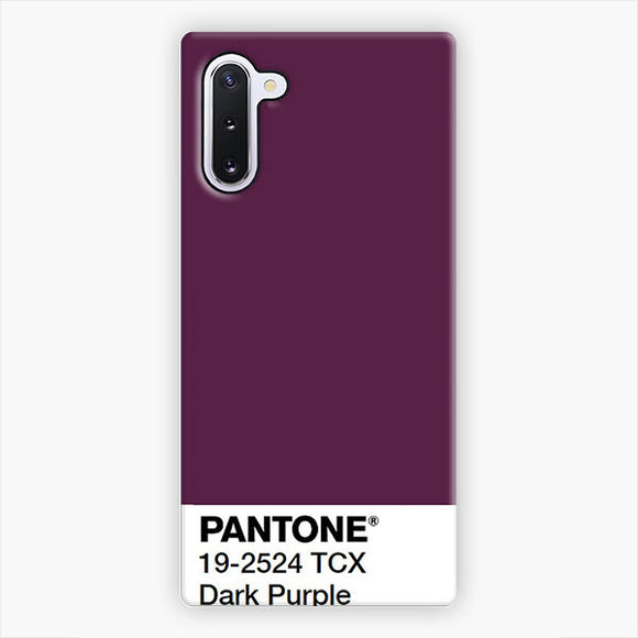 Pantone Dark Purple Samsung Galaxy Note 10 Case, Snap 3D Case