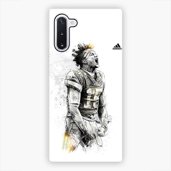 Patrick Mahomes Kansas City Chiefs Adidas Sketch Art Samsung Galaxy Note 10 Case, Snap 3D Case