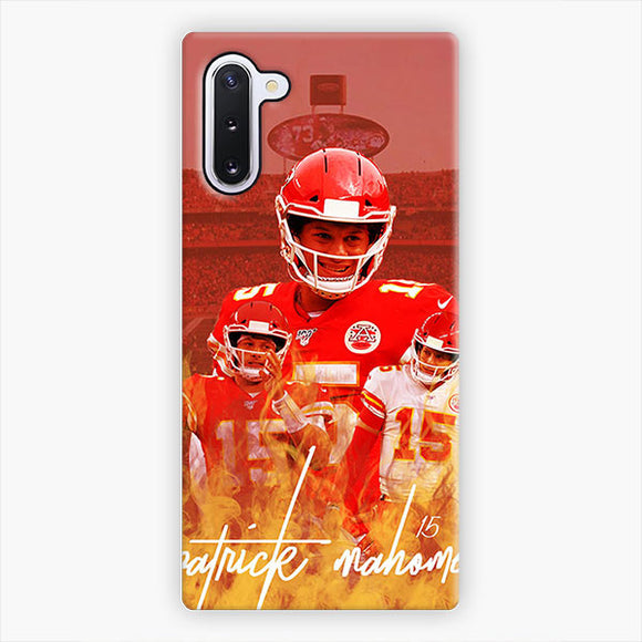Patrick Mahomes Kansas City Chiefs Best Fire Power Samsung Galaxy Note 10 Case, Snap 3D Case